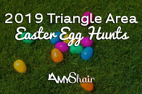 2019 Easter Egg Hunts Triangle NC Graphic from Amy Shair