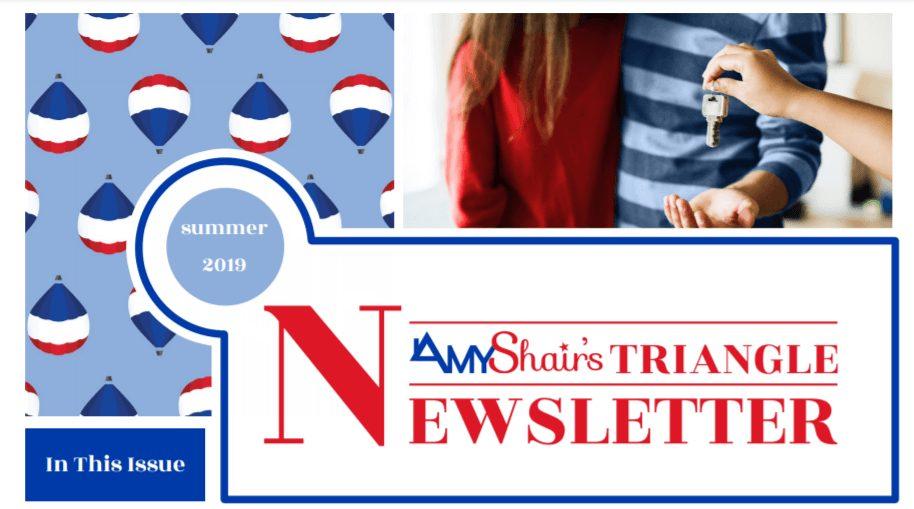 Amy Shair's Summer Newsletter Header